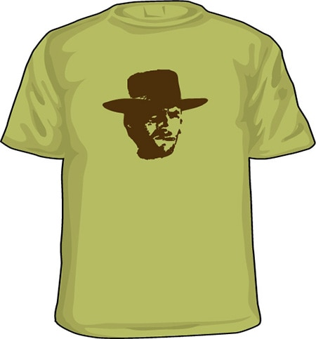 clint eastwood t shirt white