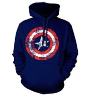 071dd3a7 Captain America Distressed Shield Hoodie