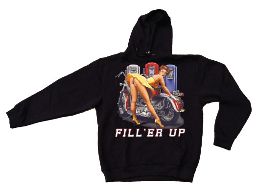 Fill Er Up Pin Up Hoodie