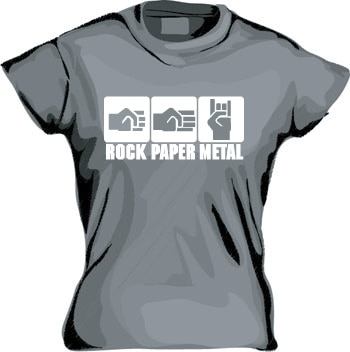 Rock-Paper-Metal Girly T-shirt