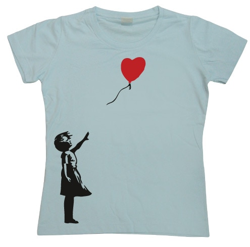 Girl With Balloon Girly T-shirt