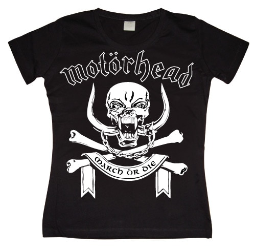 Motorhead March Or Die Girly T-shirt