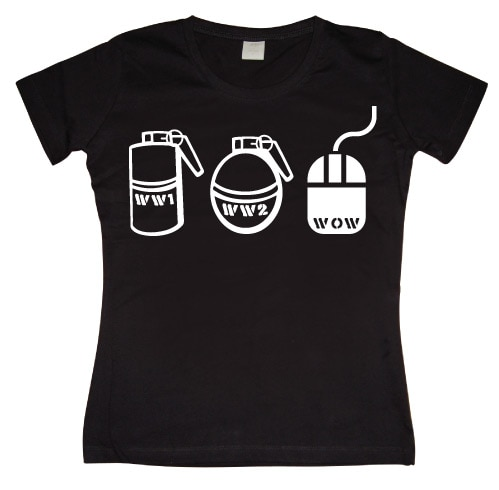 Evolution Of War Girly T-shirt