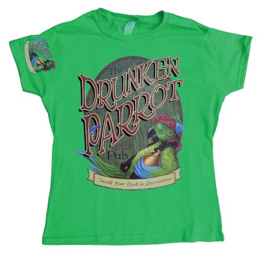 The Drunken Parrot Pub Girly T-shirt