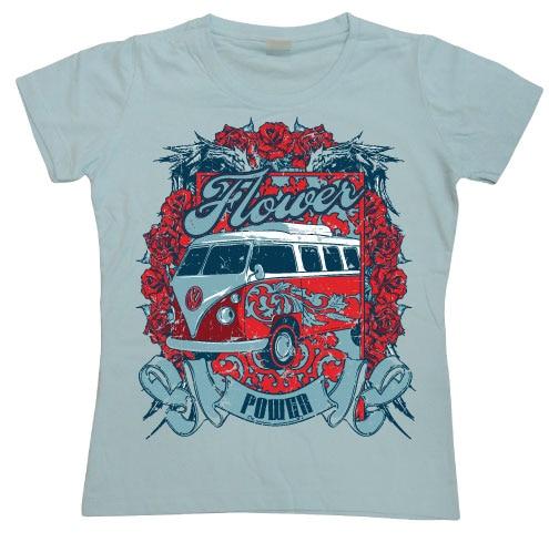 Flower Power Van Girly Tee