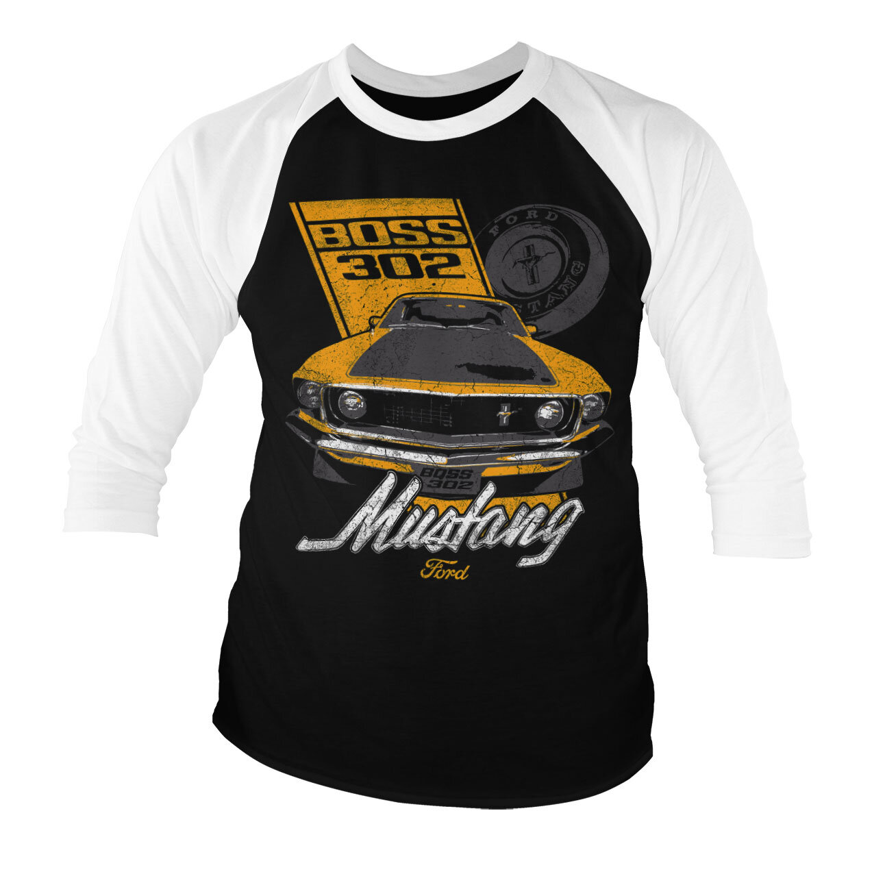 Ford Mustang BOSS 302 Baseball 3/4 Sleeve Tee