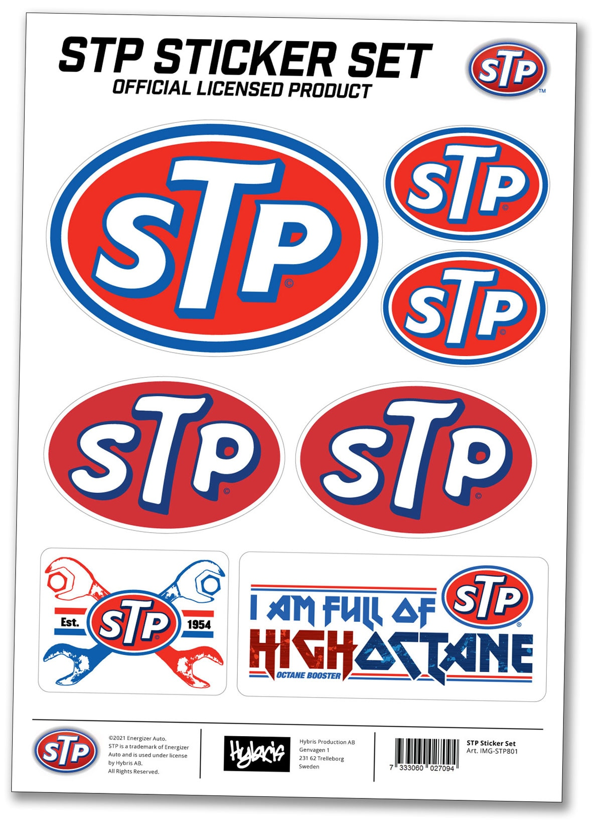 STP Brand Sticker Set