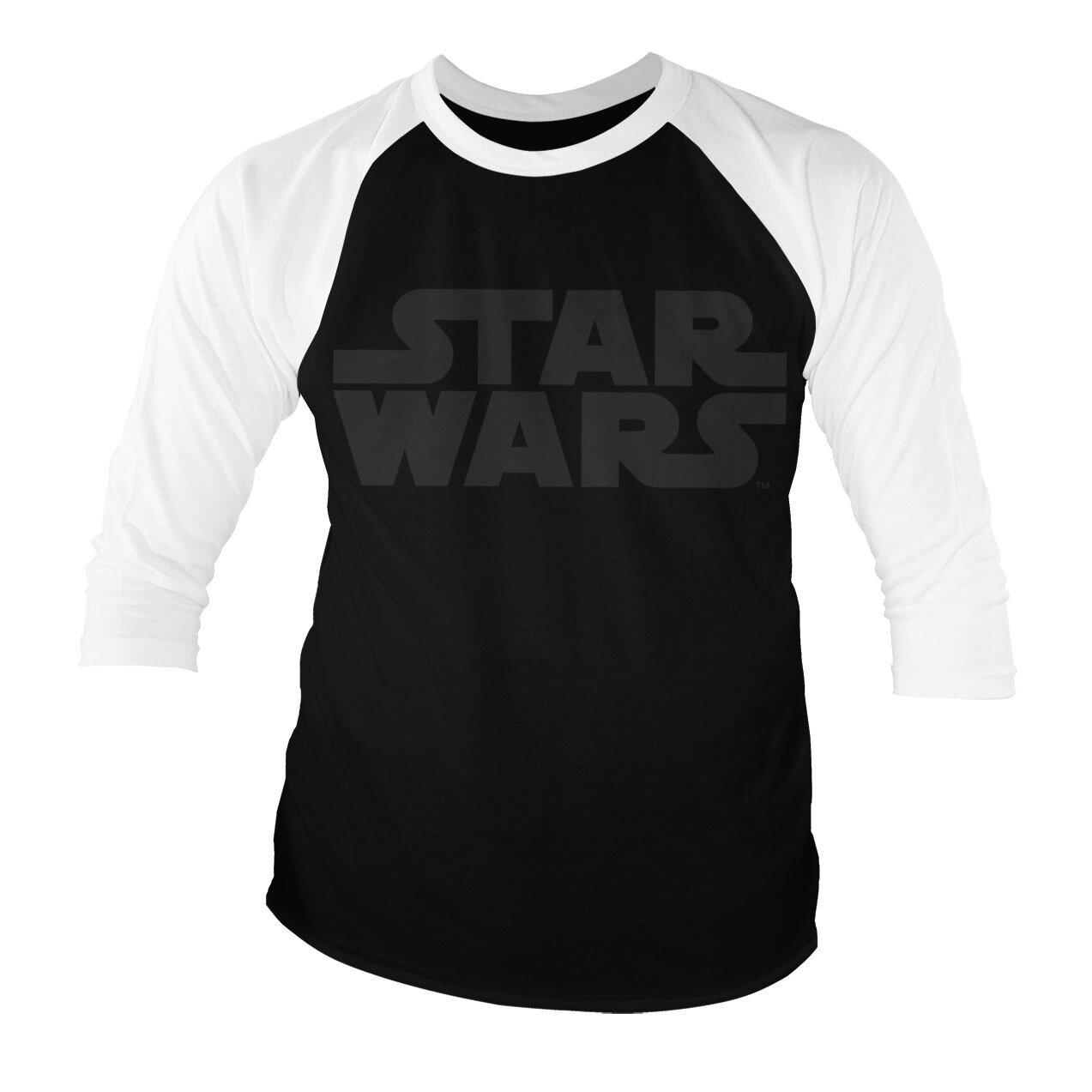 Star Wars Black Logo Baseball 3/4 Sleeve Tee