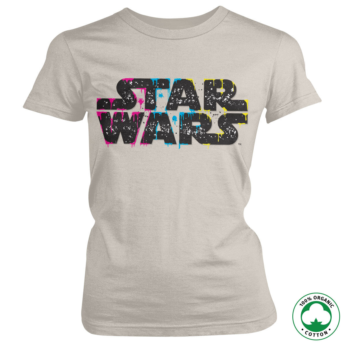 Inked Star Wars Logo Organic Girly Tee