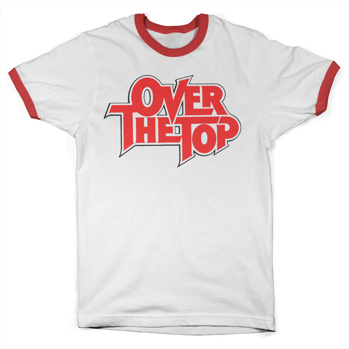 Over The Top Logo Ringer Tee
