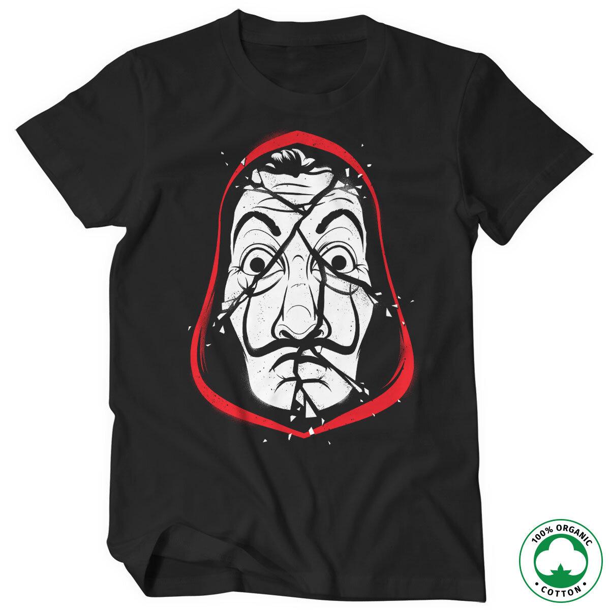 La Casa De Papel Cracked Mask Organic T-Shirt
