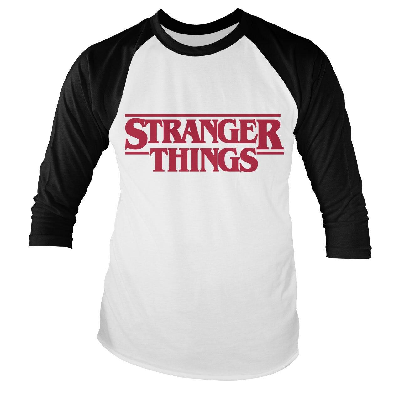 Stranger Things Logo Baseball Long Sleeve Tee
