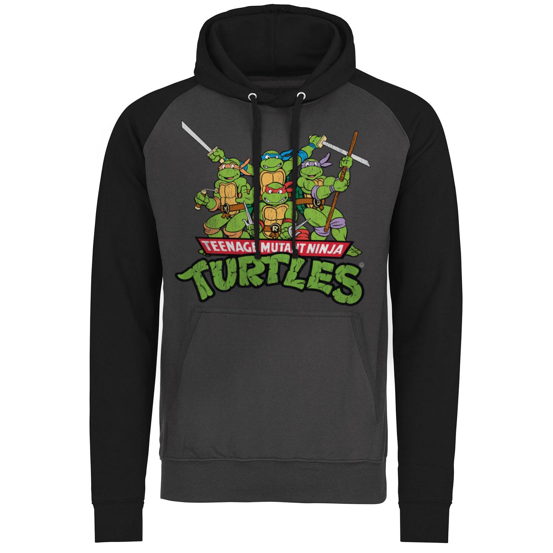 Turtles Distressed Group Baseball Hoodie