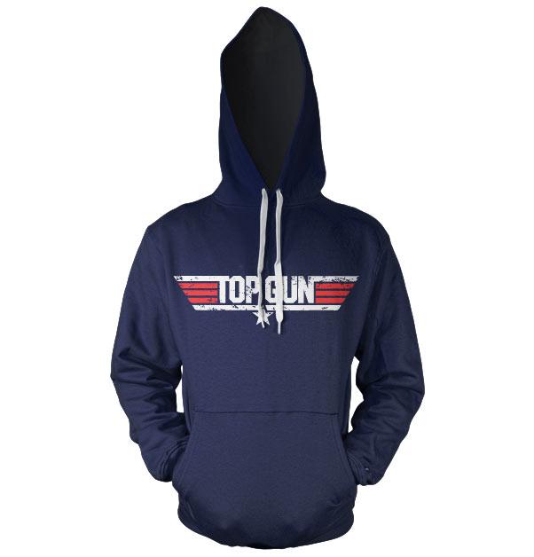 Top Gun Distressed Logo Hoodie