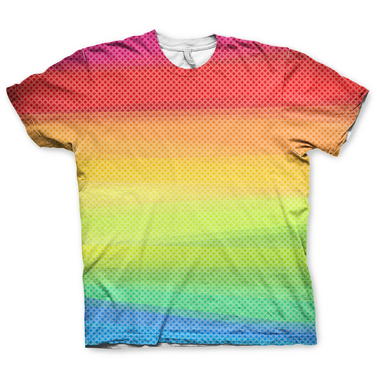 Rainbow Dots Allover T-Shirt