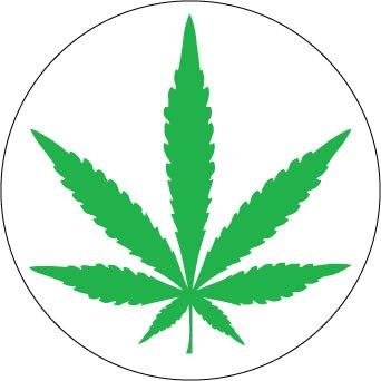 Cannabis sticker.