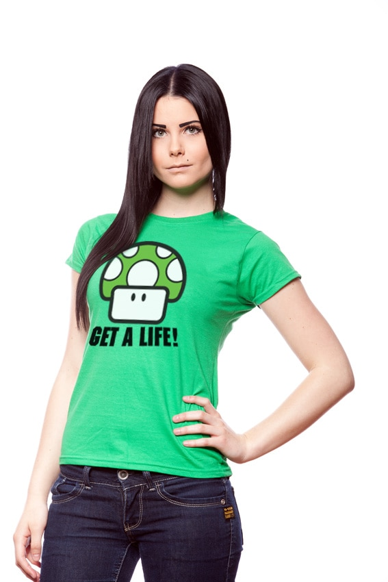 Get A Life Girly Tee