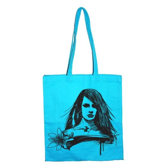 Chalk Flower Girl Tote Bag