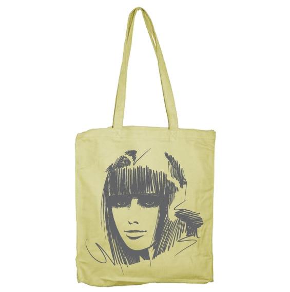 Scroll Girl Tote Bag